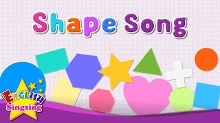 Shape Song English Kids Song Learn About Shapes Kindergarten Educatio