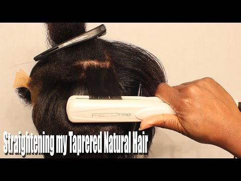 How I Straigthen My Tapered Natural Hair| BEAUTYCUTRIGHT
