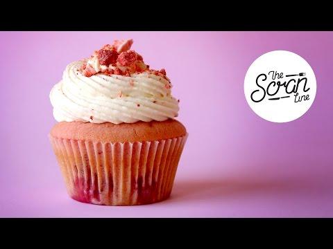 STRAWBERRIES & CREAM CUPCAKES - The Scran Line