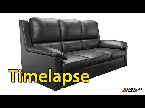 Timelapse: Making a Leather Couch in Blender
