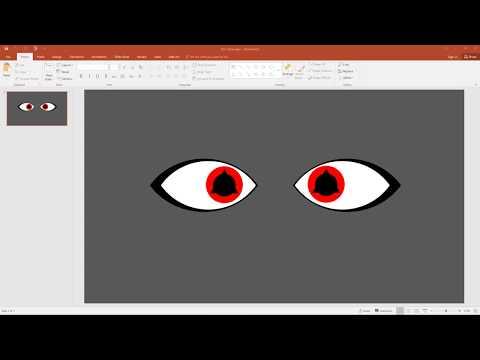Create Shin's Sharingan using PowerPoint