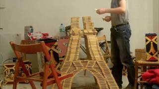 Tour Eiffel en Kapla - Construction