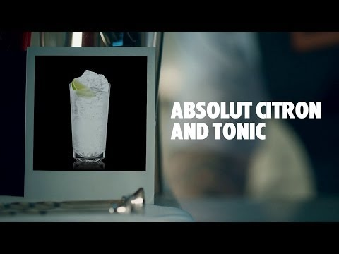 ABSOLUT CITRON AND TONIC DRINK RECIPE - HOW TO MIX