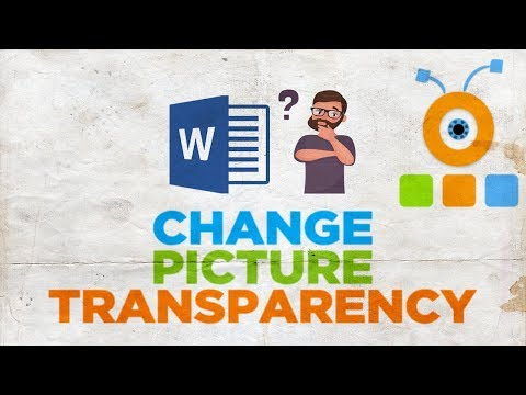 How to Change The Transparency of a Picture in Word 2019   How to Make a Photo Transparent in Word