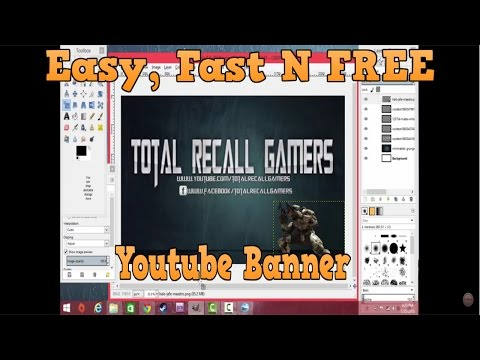 How to make a YouTube Banner 2016! Fast N' Easy (FREE)!