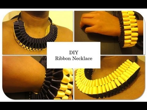 DIY Ribbon Necklace / How To Make A Ribbon Necklace