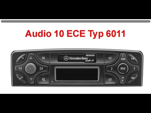 How to unlock your car radio Mercedes BECKER  audio 10 BE6011 PROD off