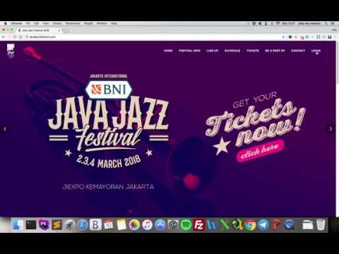 How to Buy JJF 2018 Ticket with Credit Card