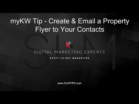 myKW Tip - Create & Email a Property Flyer to Your Contacts