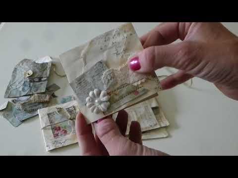 Vintage Style Junk Journal Embellishment Ephemera Scrapbook Kit Tags & Pockets - SOLD