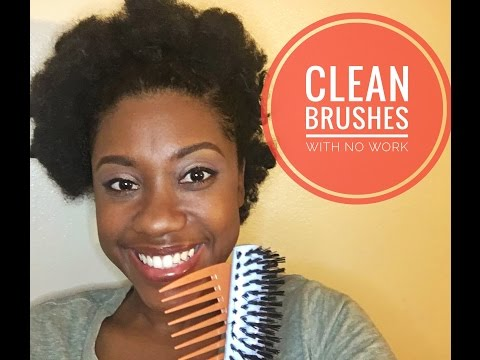 How to: Clean your Hair Brushes with No Work!