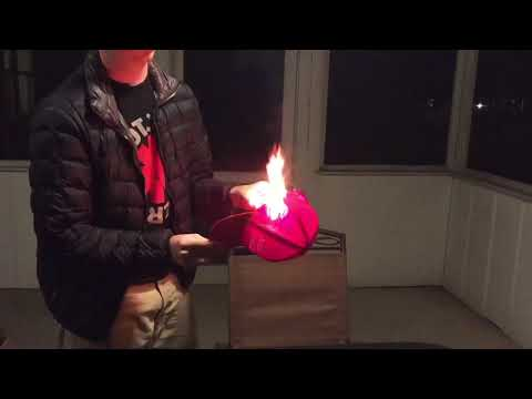 Angry Trump supporters burn their Trump hats!