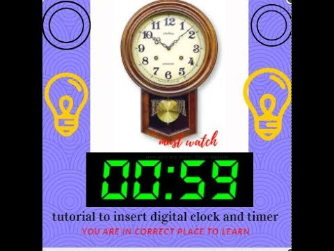 learn to insert digital clock and timer in powerpoint/ must watch this