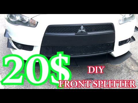 20$ DIY LANCER (OR ANY CAR) FRONT SPLITTER