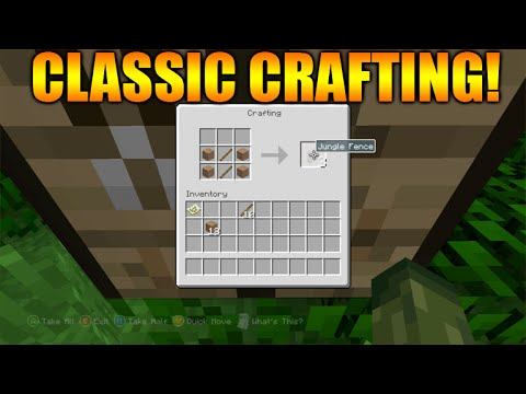 ★Minecraft Xbox 360 + PS3: TU25 Update How To Enable NEW Classic Crafting Tutorial + Changes★