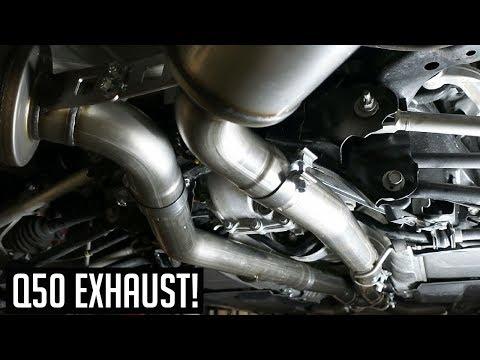 Infiniti Q50 3.0T MBRP Exhaust Review & Install DIY!
