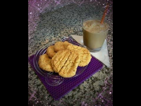 Quick Easy Homemade PEANUT BUTTER COOKIES & FROZEN COFFEE MILK