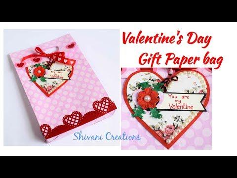 DIY Valentine's Day Gift Paper Bag/ Love Paper Bag