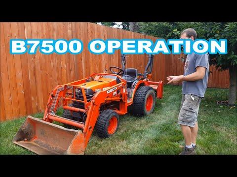 KUBOTA B7500 OPERATION OVERVIEW/INSTRUCTIONAL