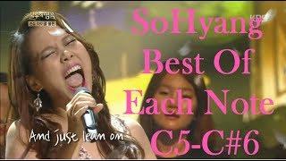 SoHyang (소향) - Best of Each Note C5-C#6 Belts