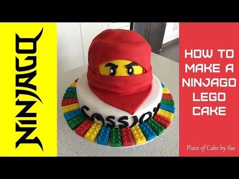 Ninjago Lego Fondant Cake How to make by Piece of Cake by Ilse