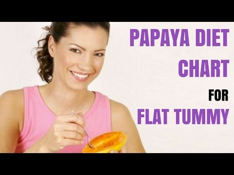 How to Eat Papaya for Flat Belly - Papaya DIET CHART for Flat Tummy - Number 1 Remedy