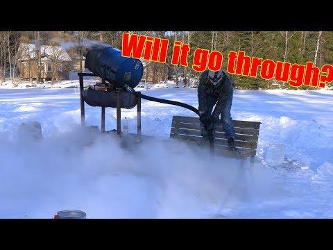 200 Liters of Boiling Water Vs. Frozen Lake