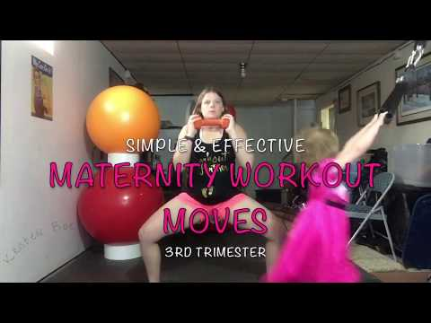 Simple and Effective 3rd Trimester Maternity Pregnancy Workout Moves 1/8