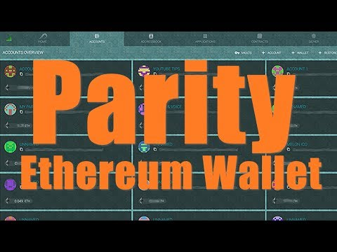 Getting Started with Parity Ethereum Wallet (Faster Sync than Geth Mist)