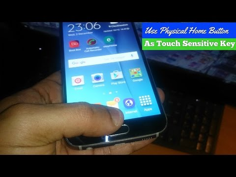 How to use Physical Home Button As Touch Key Samsung Galaxy S6,Galaxy S7 Edge