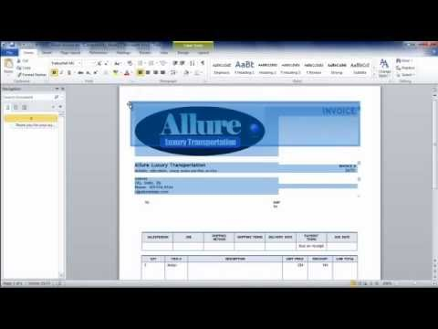 How To Make An Invoice From Word Using An Invoice Template