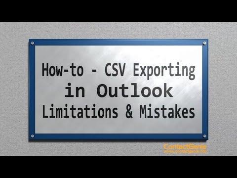 Exporting Outlook CSV file