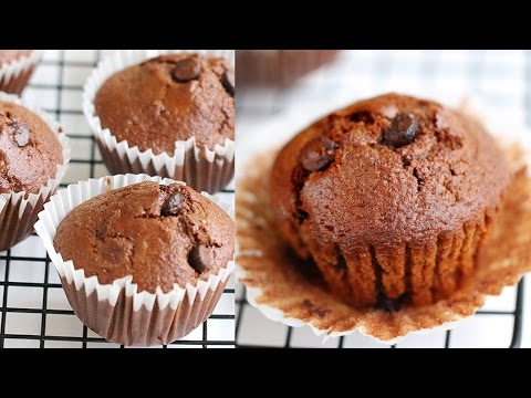 Moist Double Chocolate Muffins Recipe 촉촉한 초코 머핀 만들기 - 한글 자막