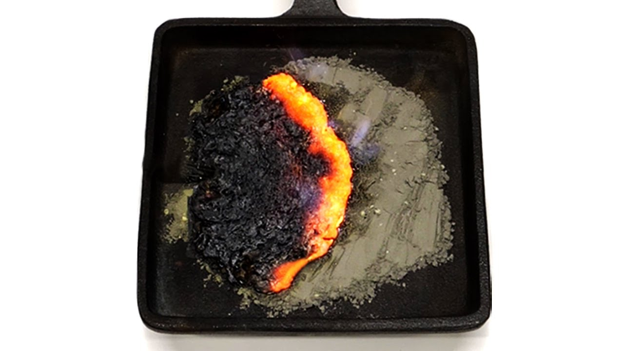 Burning iron and sulfur is so satisfying