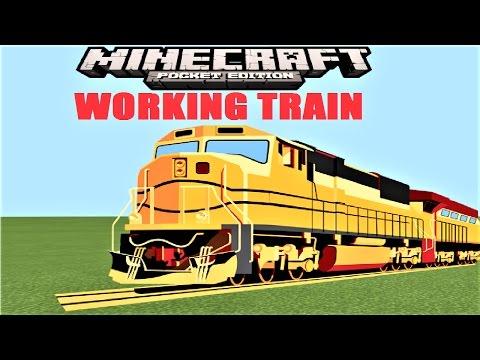 Working Train in Minecraft PE ! |  MCPE 1.1 COMMAND BLOCK MAP