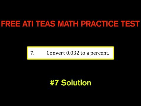 ATI TEAS MATH Number 7 Solution - FREE Math Practice Test - Convert Decimal to Percent
