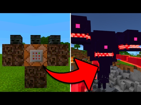 How To Spawn a Wither Storm in Minecraft Pocket Edition with Addons (Wither Storm Addon)