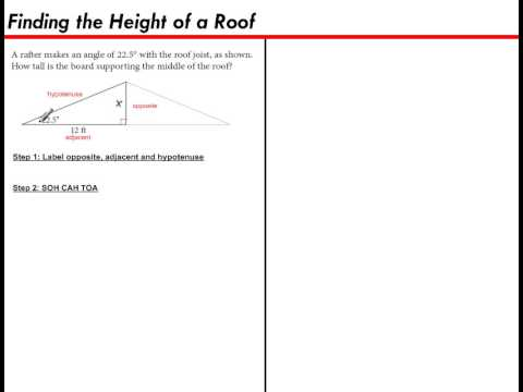 Finding the Height of a Roof