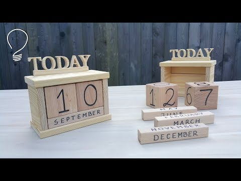Wooden Perpetual Calendar - How Does it Work ?