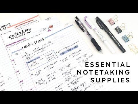 Essential Notetaking Supplies