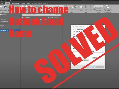 How to Change my Outlook Email Display Name - Let Me Fix IT