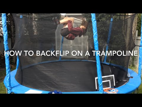 How to Backflip on a trampoline In 3 minutes! (Very easy for beginners)