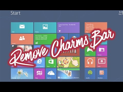 How to remove  - disable the Windows Charms Bar | Tutorial