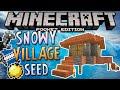 SNOWY SAVANNA VILLAGE! - Minecraft PE Triple Village Seed (Pocket Edition)