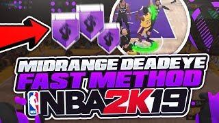 MID RANGE DEADEYE TUTORIAL FAST & EASY! NBA 2K19!! HOW TO HIT