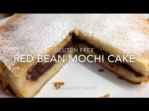 Red Bean Mochi Cake Anko Gluten Free cheekyricho tutorial