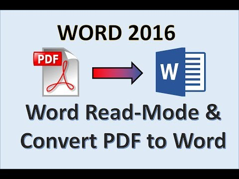 Word 2016 - Use Read Mode and PDF Reflow