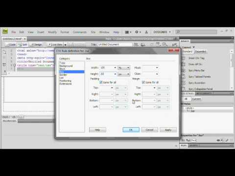 dreamweaver tutorial how to make a facebook menubar