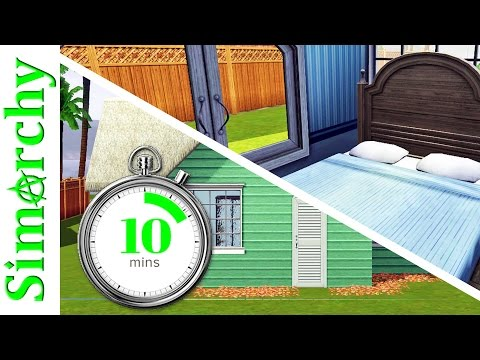 The Sims 3 - 10 Minute Challenge - Beach House Building / Slow Build in Real Time with Face Cam!