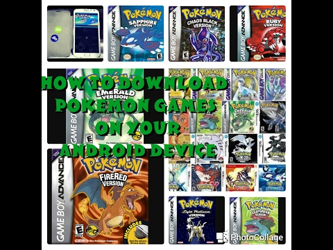 How to get pokemon games on my boy (Android)